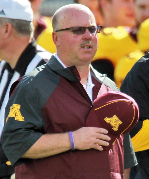 Minnesota head coach Jerry Kill on the sideline before the start of play against Western Illinois last month.