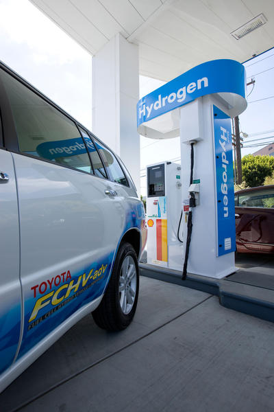 A hydrogen fueling station.