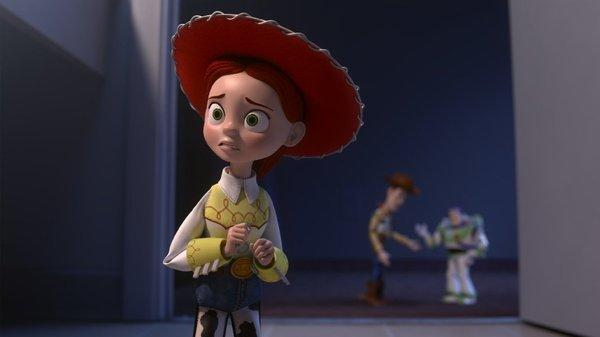 "Cowgirl doll Jessie has a fearful moment in the animated special ""Toy Story of Terror,"" airing Wednesday on ABC."