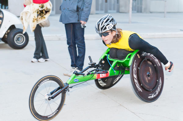 Wheelchair marathon athlete Geoff Kent
