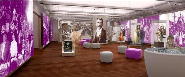 A rendering of the interior of the Italian American Museum of Los Angeles, scheduled to open next year.