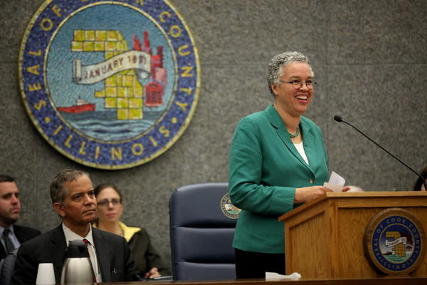 Cook County Board President Toni Preckwinkle unveiled the 2014 budget today.