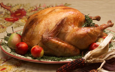 Roasted turkey, no stuffing