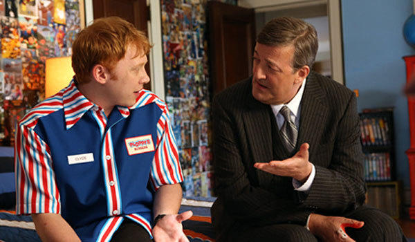 "Rupert Grint, left, and Stephen Fry in ""Super Clyde."""