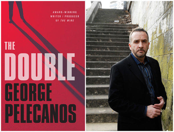 "The cover of ""The Double,"" and author George Pelecanos."