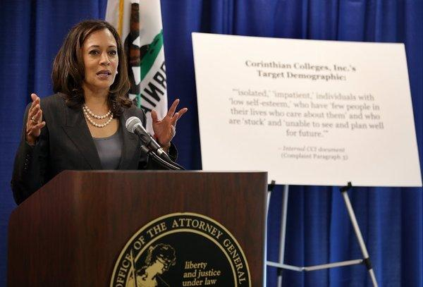 Kamala Harris lowers the boom on Corinthian Colleges. Marc Morial, are you listening?