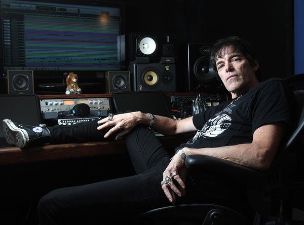 "Richie Ramone, former Ramones drummer, in his Los Angeles home studio on Tuesday, Oct. 8, 2013. Ramone released his first solo album ""Entitled."""