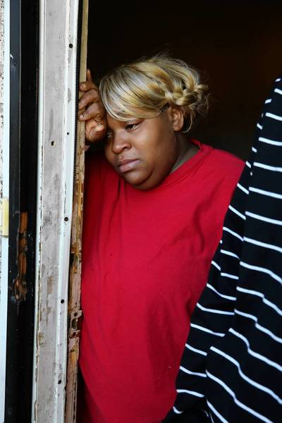 Lois Pickett on Thursday mourns the death of her son, Abdullah Rasheed Trull, who was fatally shot Wednesday night in the South Shore neighborhood south of Jackson Park. Two others were also killed in the shooting, Chicago's first triple homicide of 2013.
