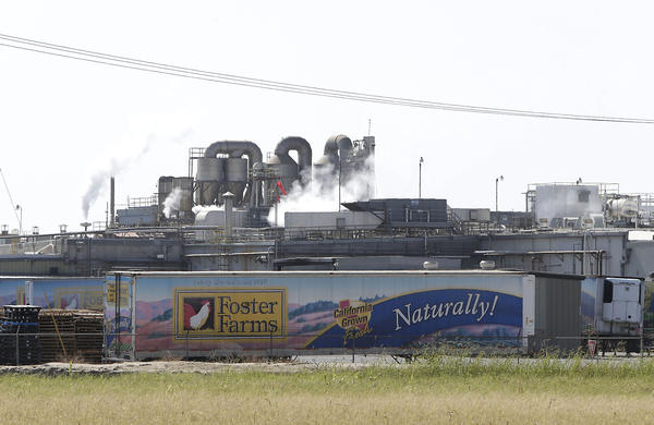 Foster Farms processing plant in Livingston, Calif. The plant is one of three in California linked to a salmonella outbreak.
