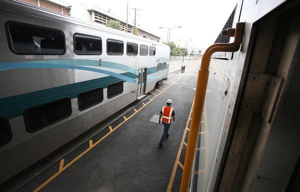 A Metrolink train last year in Rancho Cucamonga.