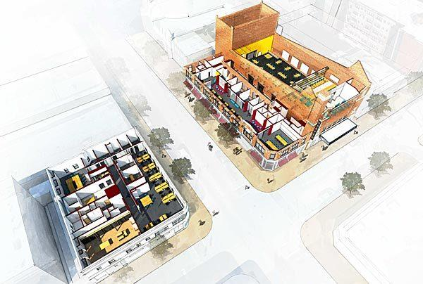 An aerial rendering of the Chicago Innovation Exchange planned at the University of Chicago.