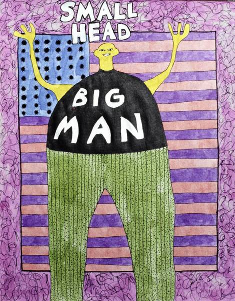 """Small Head Big Man"" by Ron Crowcroft."