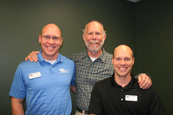 The owners of Northern Michigan Sports Medicine Center are pictured from left: physical therapists Joel Smith, Chuck Smith and Jeff Smith.
