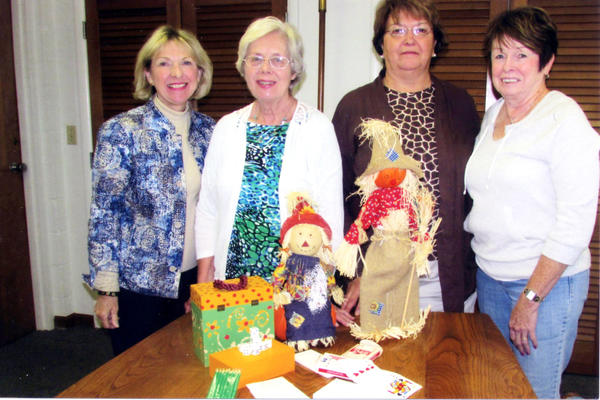 St. Mary's Rosary Altar Society will offer its inaugural fundraiser. Pictured here are (from left) Georgeann Lindberg, Joan Lemerand, Pat Philips and Kathy Pische, all members of the event committee. Not shown is Eleanor Sadowski.