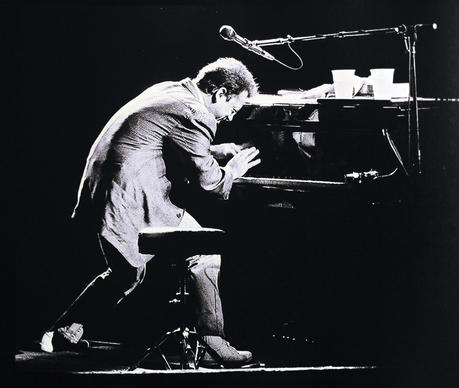 Billy Joel performs at the Hollywood Sportatorium.
