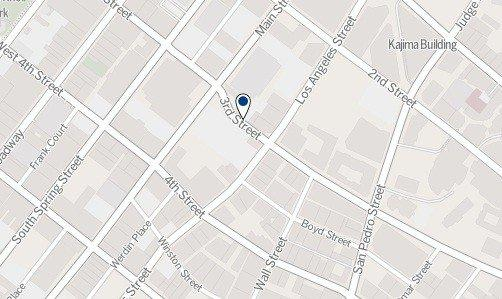 A map shows where a woman was shot by police Friday afternoon in the 300 block of East 3rd Street in downtown L.A.
