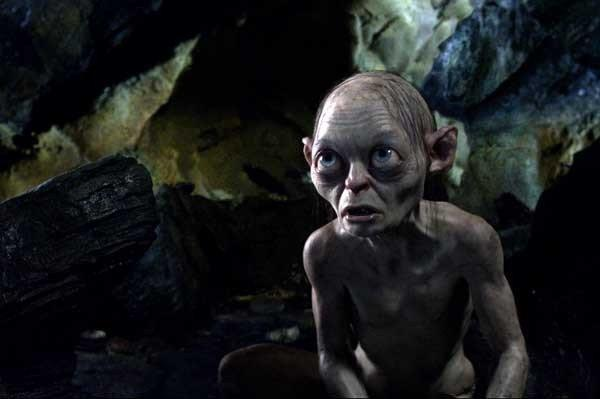 "Gollum (Andy Serkis) loses his ring in ""The Hobbit: An Unexpected Journey"" on HBO."