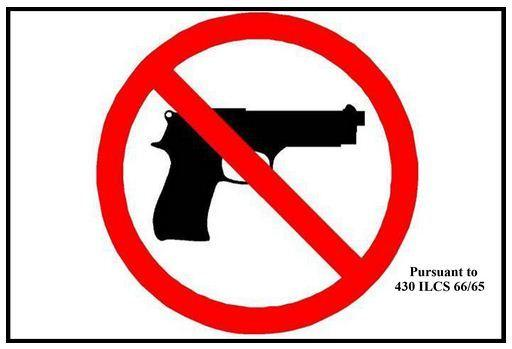 "Businesses can download the state-approved ""no weapons"" sign for banning concealed carry."
