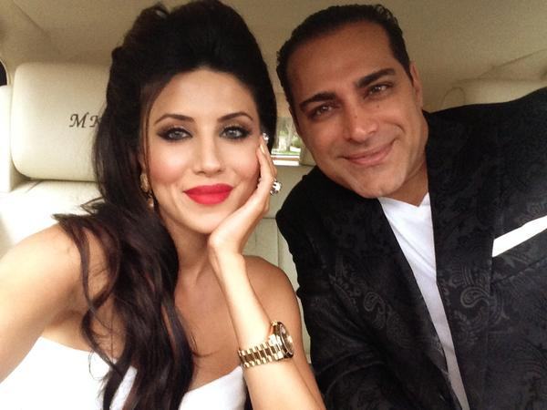Leyla Milani, left, with husband Manny Khoshbin.