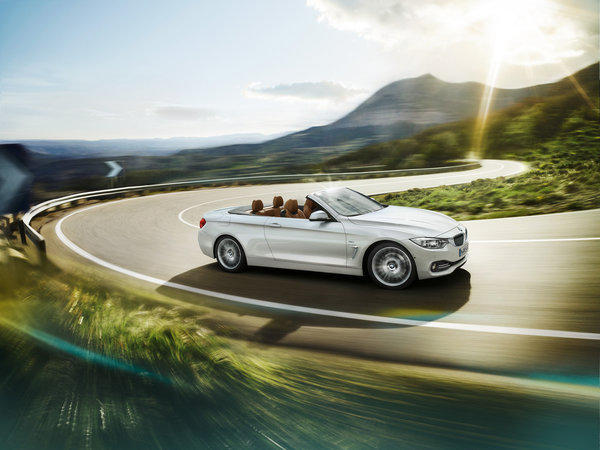The 2014 BMW 4-Series Convertible will debut at the 2013 L.A. Auto Show in Nov. It will be mechanically identical to the 3-Series sedan, with either a 240-horsepower, turbocharged four-cylinder engine, or a 300-horsepower inline six-cylinder. Prices start at $49,675 for the 428i and $55,825 for the 335i.