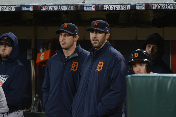 Tigers starting pitchers Max Scherzer and Justin Verlander.