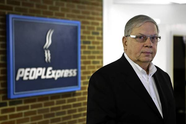 Jeffrey Erickson is the new CEO of People Express, a Newport News-based airline.