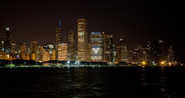 Chicago skyline from the Adler Planetarium, September 26, 2013.