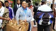 Coppin State students feed the hungry