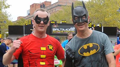 Batman robin and a peyton manning hater keep baltimore marathon batman robin and a peyton manning hater keep baltimore marathon colorful baltimore sun voltagebd Choice Image