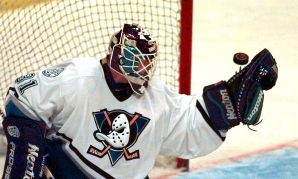 Guy Hebert, the first goalie in Ducks franchise history, will be among the first-year players honored by the franchise when it recognizes the 20th anniversary of the team's first win.