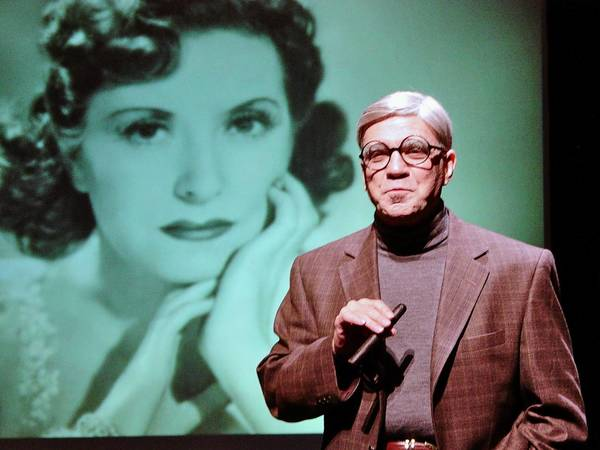 Alan Safier channels comedian George Burns in 'Goodnight Gracie,' a reference to his wife Gracie Allen, Oct. 18 at the State Theatre, Easton.