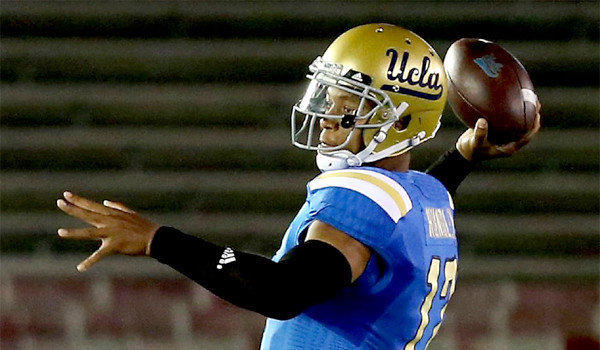 UCLA quarterback Brett Hundley has thrown for 848 yards and eight touchdowns with three interceptions in his second season under center for the Bruins.