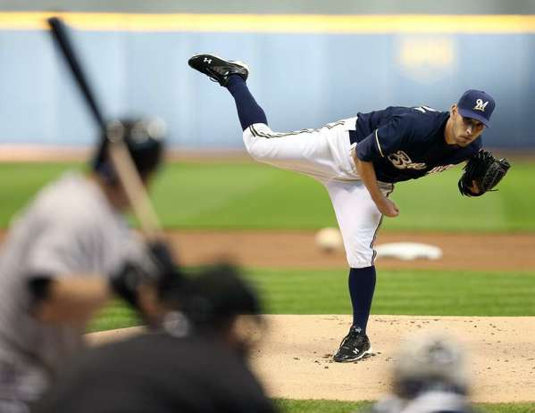 ARCHIVE PHOTO: Former Glendale Community College pitcher Marco Estrada came on strong at the end of the year for the Milwaukee Brewers.