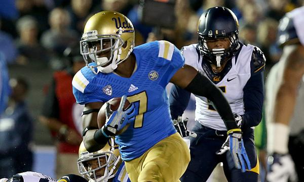 UCLA wide receiver Devin Fuller sprints past the California defense to score a touchdown during the first quarter of the Bruins' 37-10 victory Saturday.