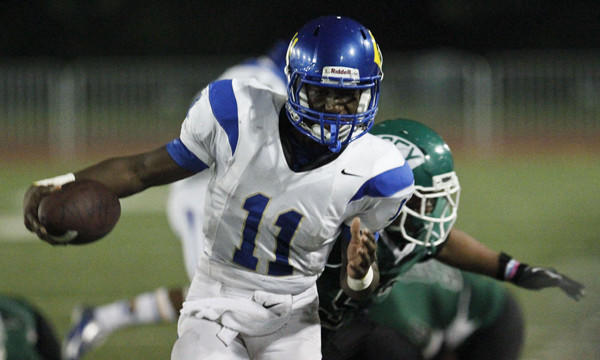 Crenshaw quarterback Ajene Harris will pose a defensive challenge for longtime rival Dorsey this week.