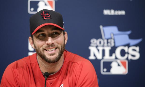 St. Louis ace Adam Wainwright will start Game 3 of the National League Championship Series against the Dodgers on Monday.