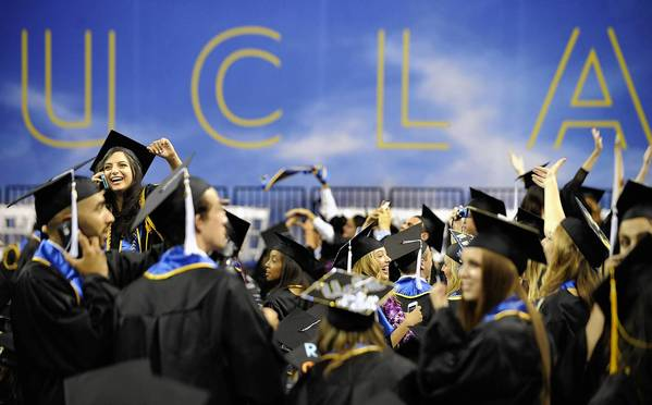 UCLA graduation ceremonies in June. A constitutional challenge to Michigan's ban on college affirmative action comes before the U.S. Supreme Court this week.