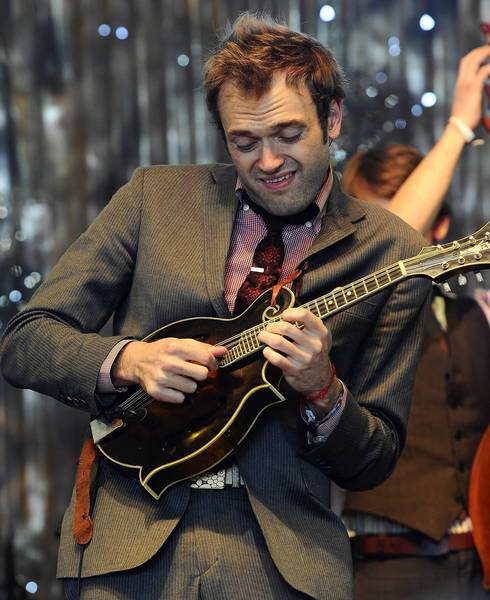 Musician Chris Thile of The Punch Brothers performs onstage during 2011 Stagecoach music festival.