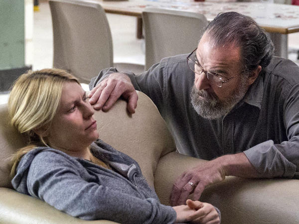 "Claire Danes as Carrie Mathison and Mandy Patinkin as Saul Berenson in ""Homeland/"""