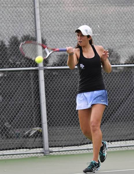 Nicole Berkman of Highland Park High School is hoping for a third straight state appearance in doubles.