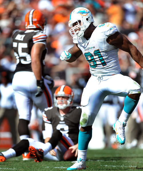Dolphins defensive end Cameron Wake is working his way back from a mid MCL sprain he suffered on Sept. 22.