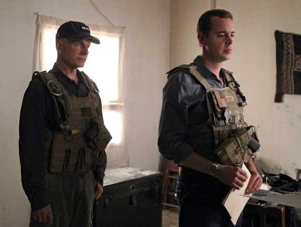 "Mark Harmon, left, and Sean Murray in ""NCIS"" on CBS."