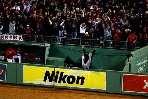 Torii Hunter's dive into the bullpen is one of the signature moments of the ALCS so far.