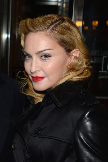 "Madonna attends the ""12 Years A Slave"" premiere during the 51st New York Film Festival at The Film Society of Lincoln Center, Walter Reade Theatre on October 8, 2013 in New York City."