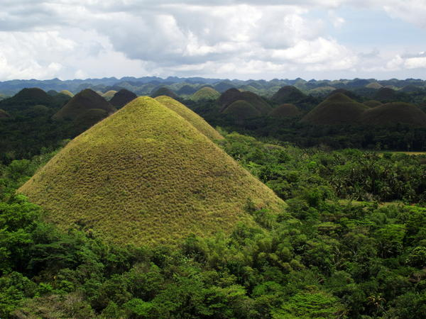 A view of hills in Bohol, Philippines.