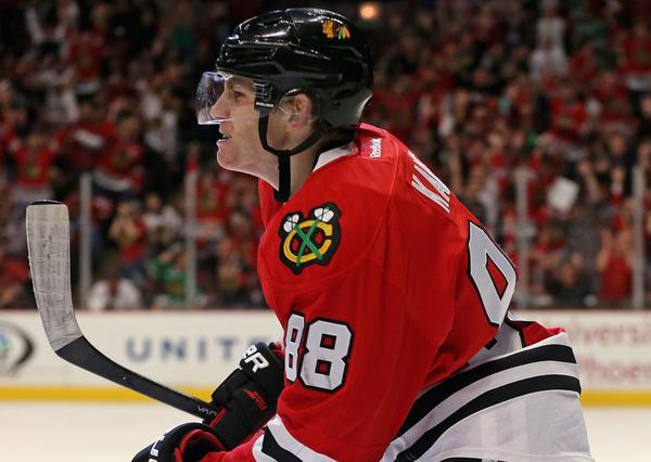Patrick Kane leads the Hawks with four goals this season.