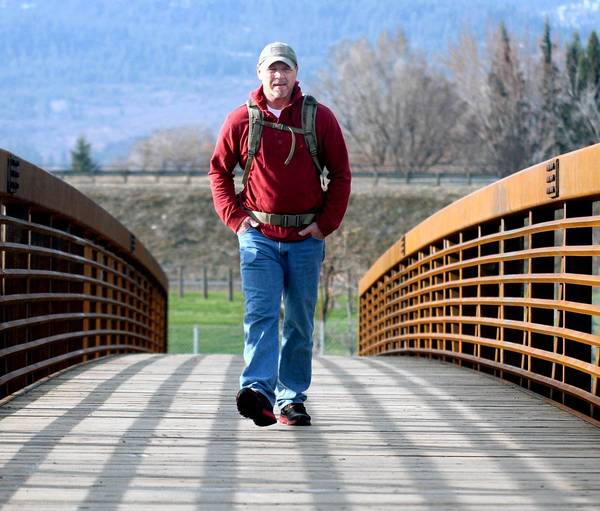 Joe Bell of La Grande, Ore., trains for his cross-country trek in March. He wanted to honor his son, Jadin, a gay high school student who committed suicide after what his parents described as regular bullying.