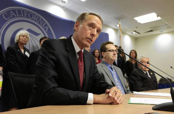 A panel considering a controversial proposal to allow California's two-year schools to offer four-year degrees is scheduled to present a report to community colleges Chancellor Brice Harris and the Board of Governors by year's end. Above, Harris at a news conference last year.