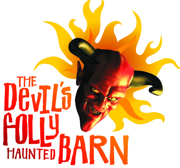This is the T-shirt logo for Devil's Folly Haunted barn, the Salisbury Township attraction whose 'Psychopath Sanctuary' theme aroused criticism this year.