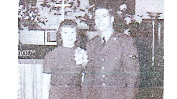 Mr. and Mrs. Charles Hawkinson, 1953